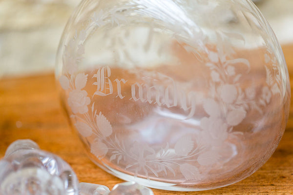 Offbeat Interiors - A Pair of Victorian Glass Spirit Decanters