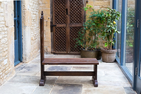 Offbeat Interiors - Gothic Revival Carved Oak Bench