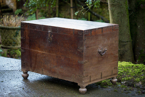 Offbeat Interiors - Large Indian chest on bun feet