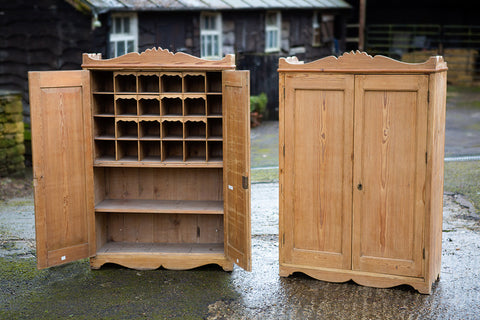 Offbeat Interiors - A Matching Pair of Vintage Pine Wall Cabinets