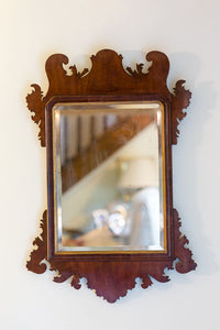 Offbeat Interiors - George II Mahogany Fret Carved Mirror