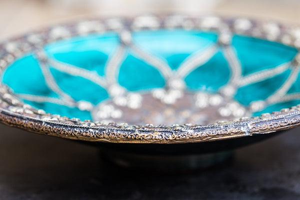 Offbeat Interiors - Moroccan Turquoise Glazed Plate