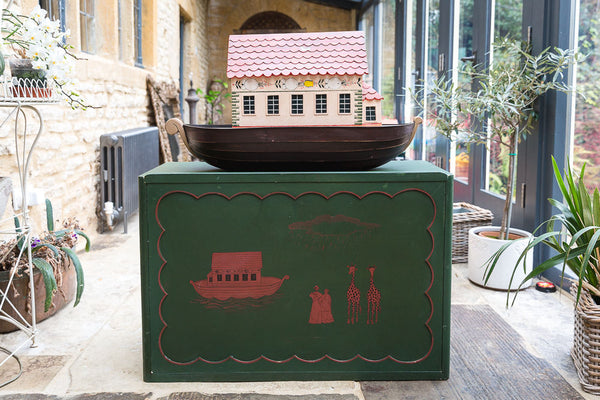 Offbeat Interiors - Vintage Handmade Large Noah's Ark