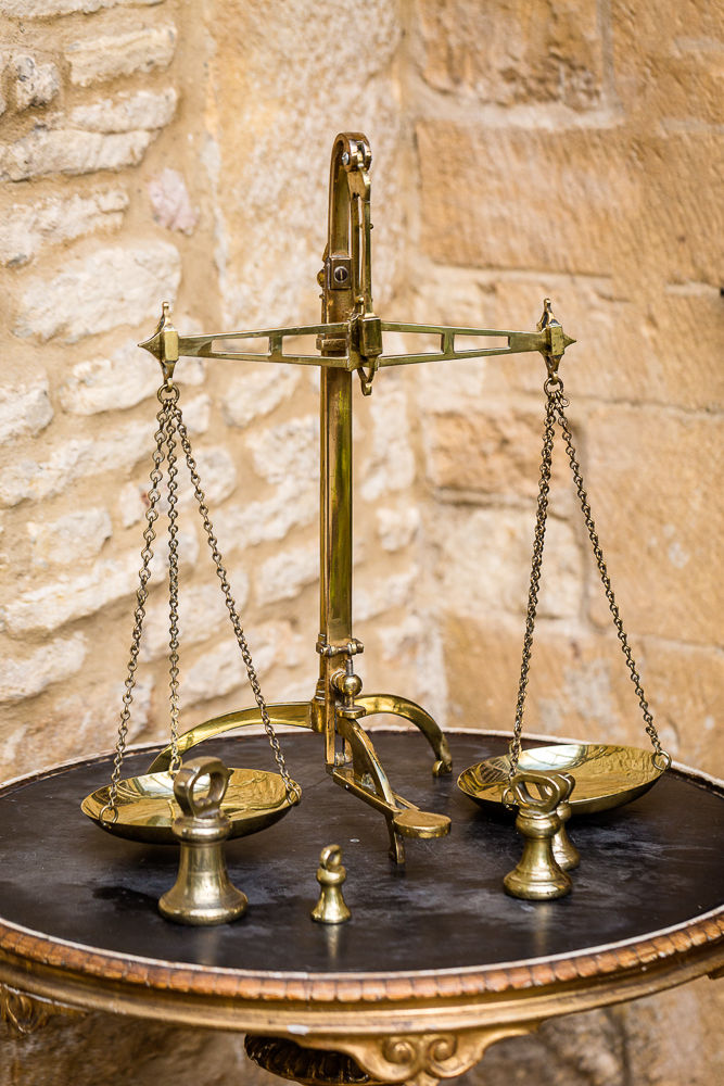 Offbeat Interiors - Victorian Brass Weighing Scales