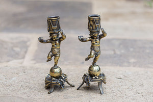 Offbeat Interiors - A Pair of Nineteenth Century Candlesticks
