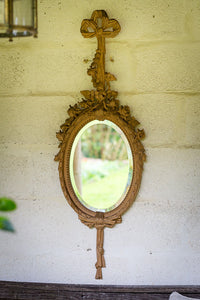 Offbeat Interiors - Carved and Polished Pine Framed Mirror