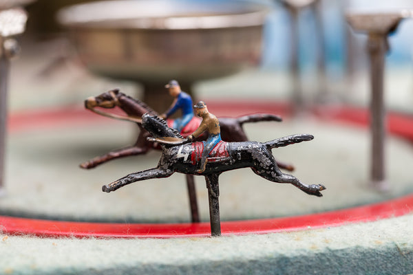 Offbeat Interiors - Antique French Horse Racing Game
