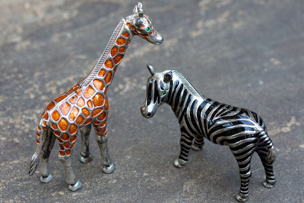 Offbeat Interiors - Zebra and Giraffe Salt and Pepper Shakers
