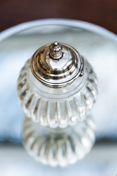 Offbeat Interiors - Silver and Glass Bottle