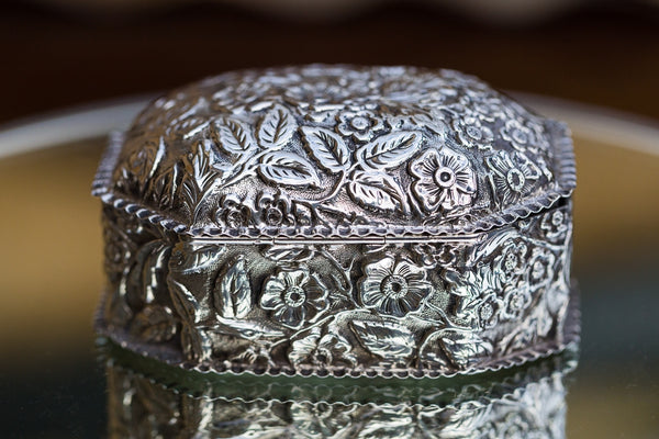 Offbeat Interiors - Victorian Silver Trinket Box