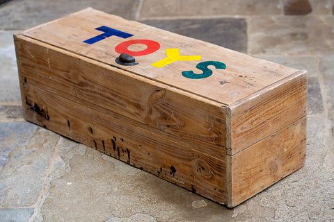 Offbeat Interiors - A mid 20th century childrens large pine toy box