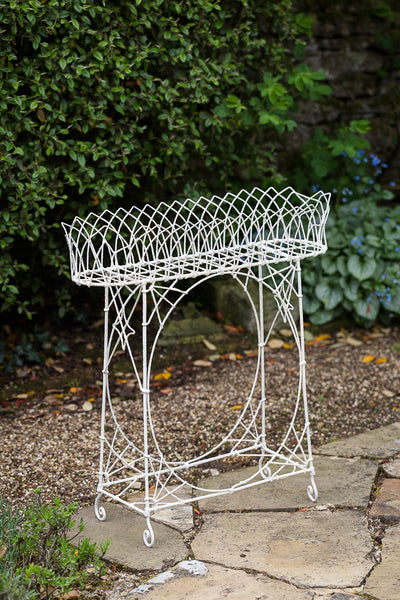 Offbeat Interiors - White Painted Wirework Stand