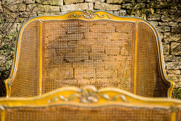 Offbeat Interiors - Twentieth Century Louis XV Wicker Bed