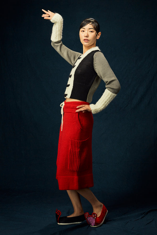 Frosty Culotte in Red Merino