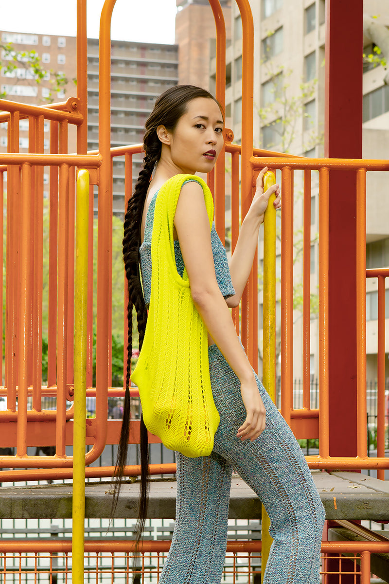 Holey Market Tote in Sprout Yellow