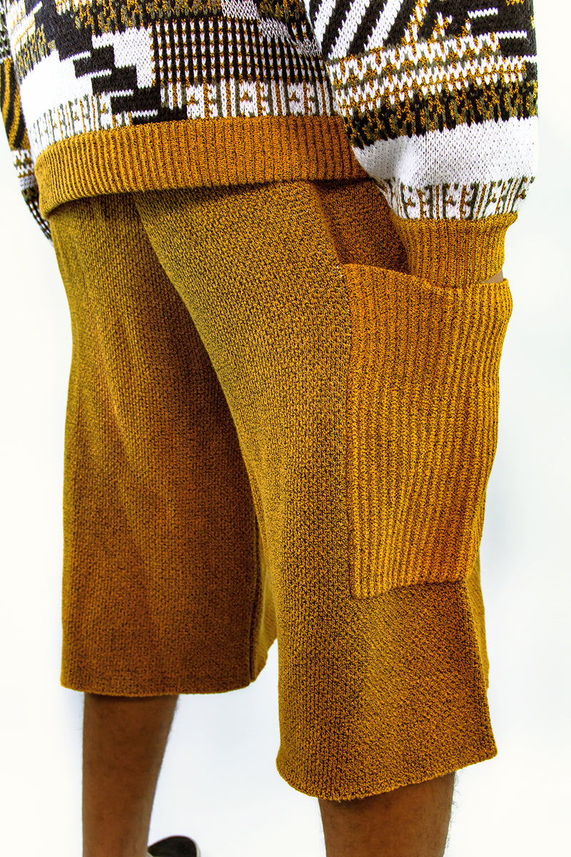 TKCXYY Glitch Short in Ochre