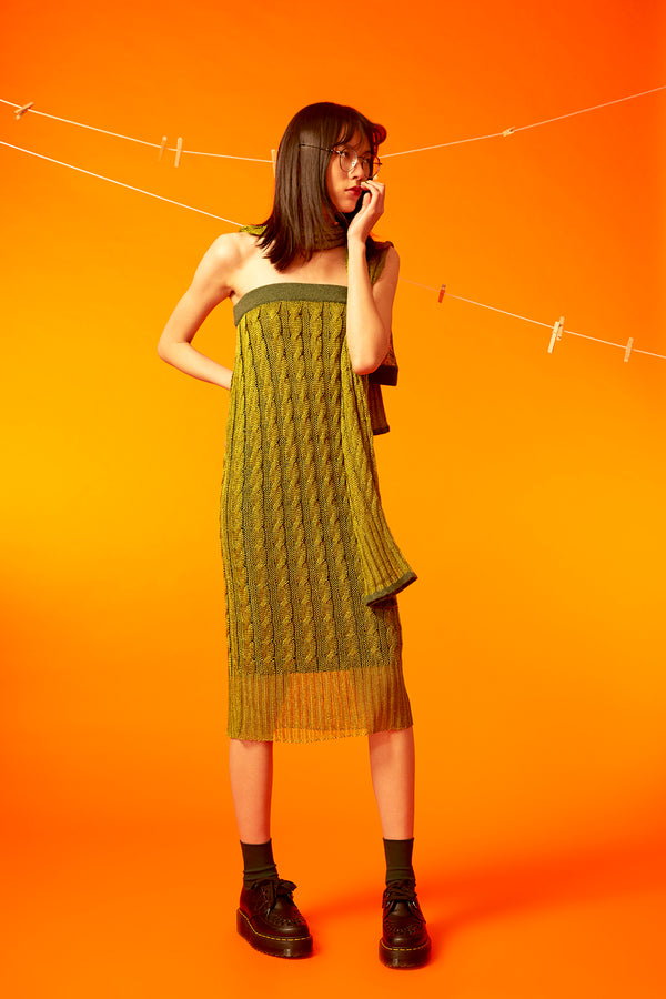 Mercury Dress / Skirt in Pickle Green「preorder option available!!」*ヽ(o^ ^o)ノ*