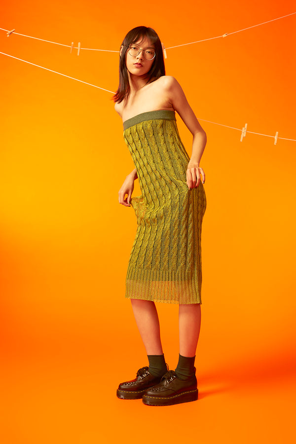 Mercury Dress / Skirt in Pickle Green *ヽ(o^ ^o)ノ*