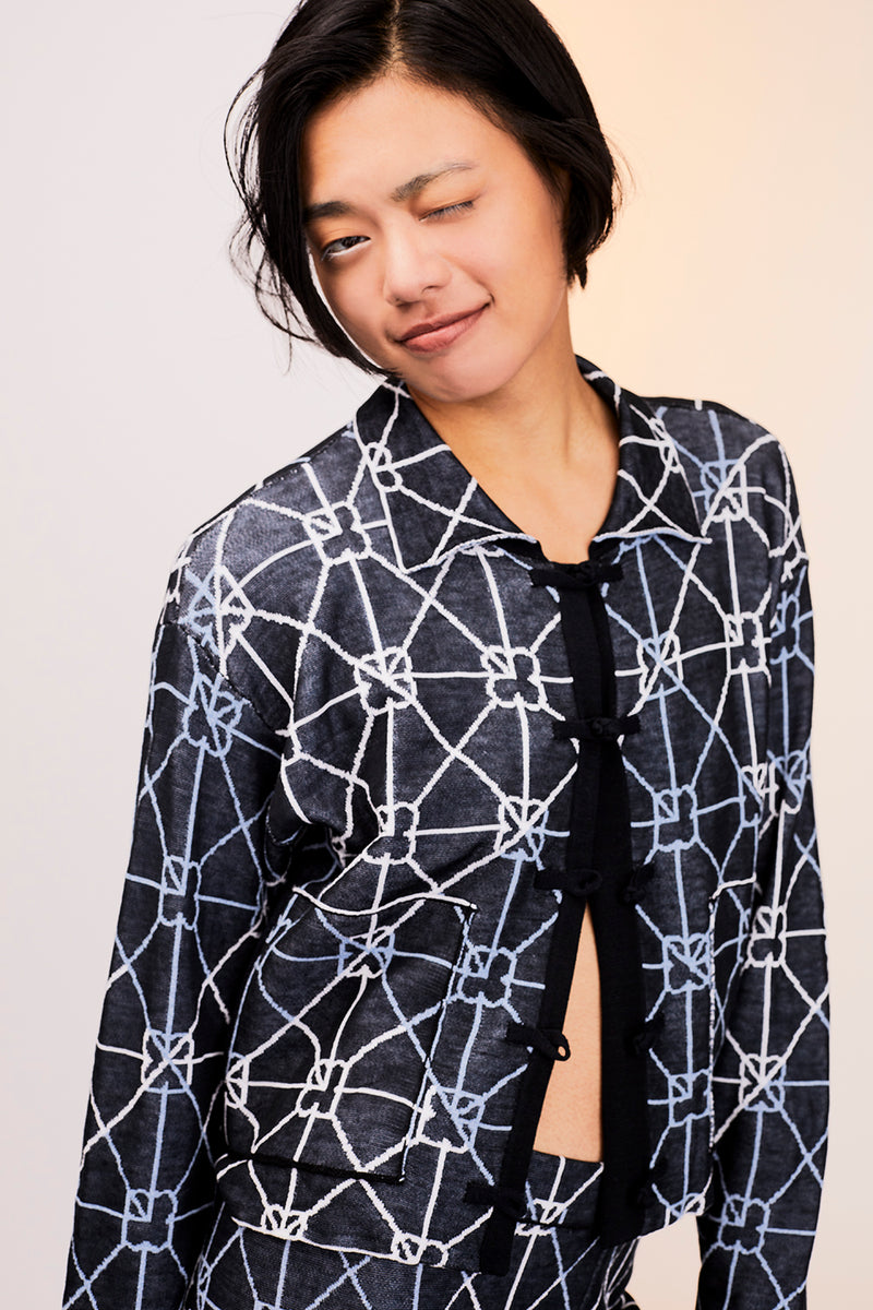 June Shirt in Cotton Jacquard