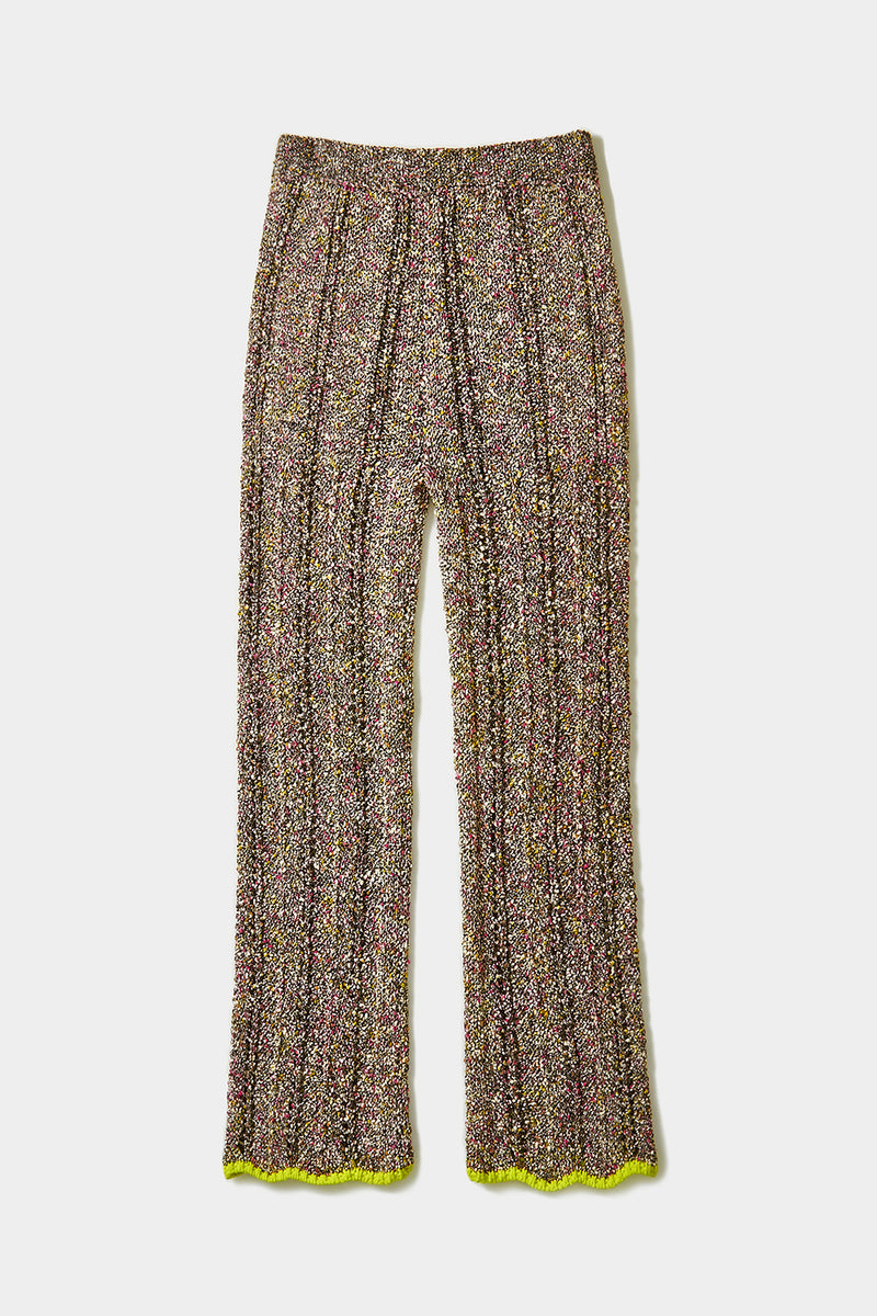 Tweedle Pant in Black Tweed