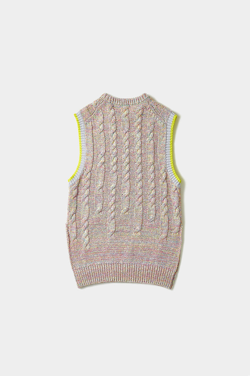 Funfetti Oversized Vest in Multicolor Tweed