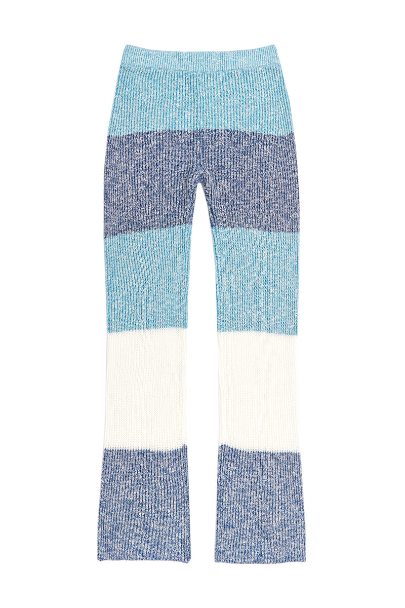 Tweedee Stripe Pant in Turquoise
