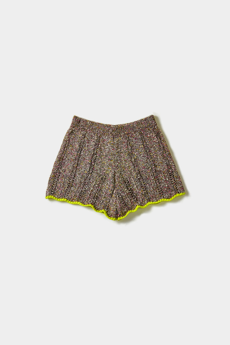 Tweedle Short in Black Tweed