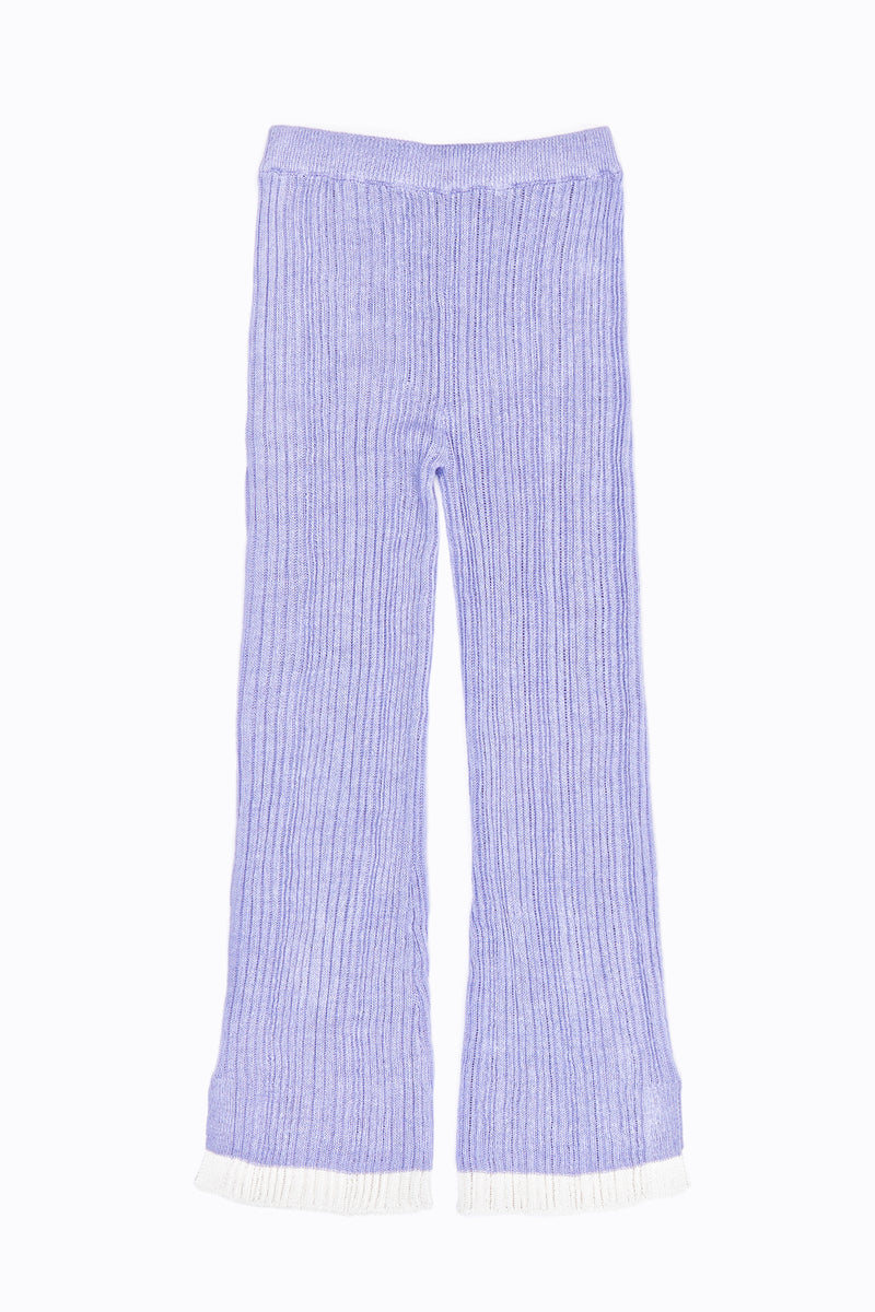 Mabo Rib Pant in Lilac Linen