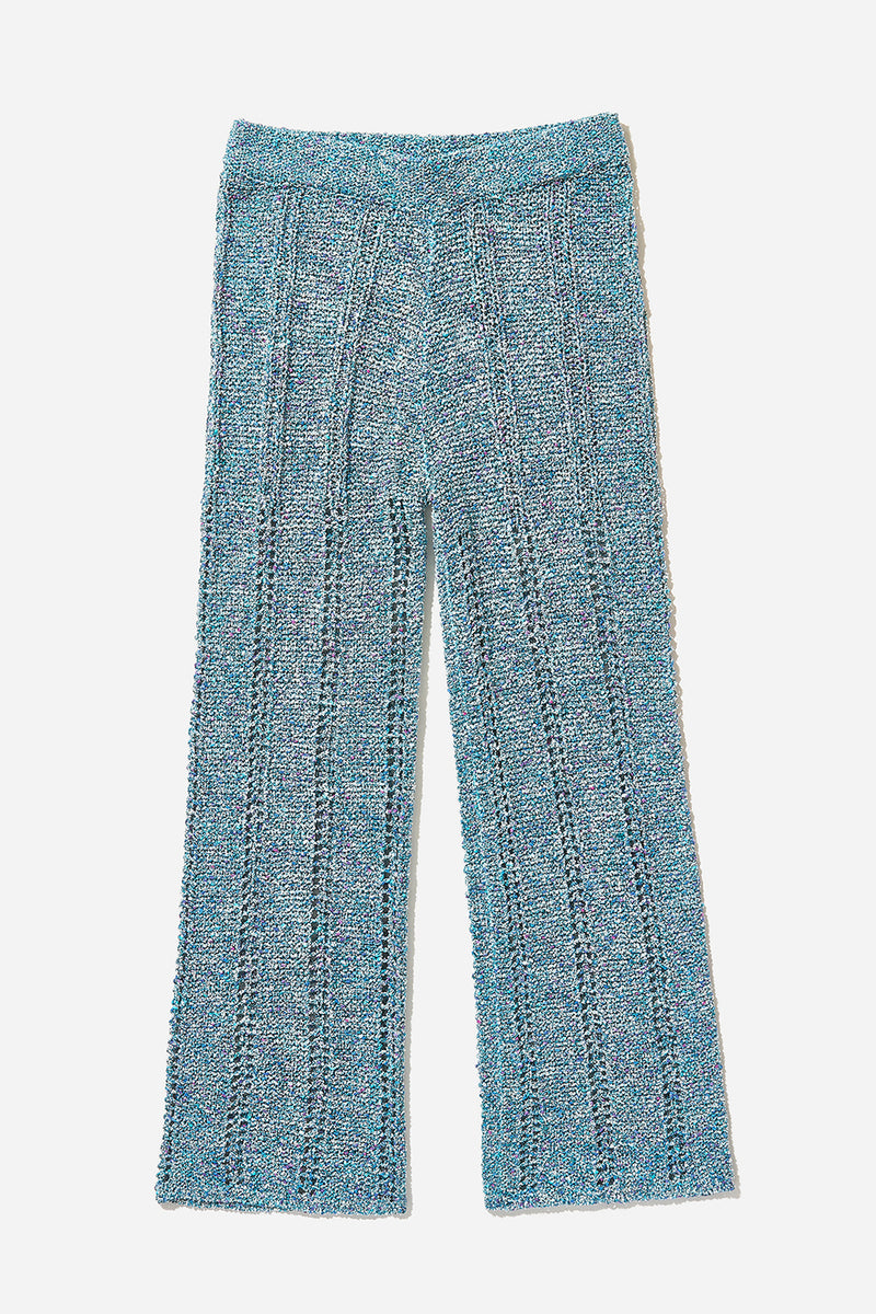 Cotton Tweed Pant (Blue)
