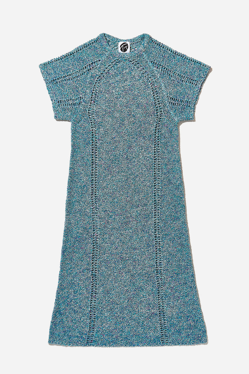 Cotton Tweed Cheongsam (Blue)