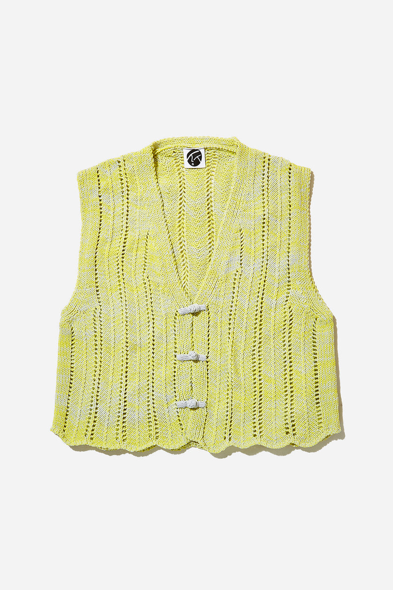Holey Kungfu Vest (Grey/Yellow)