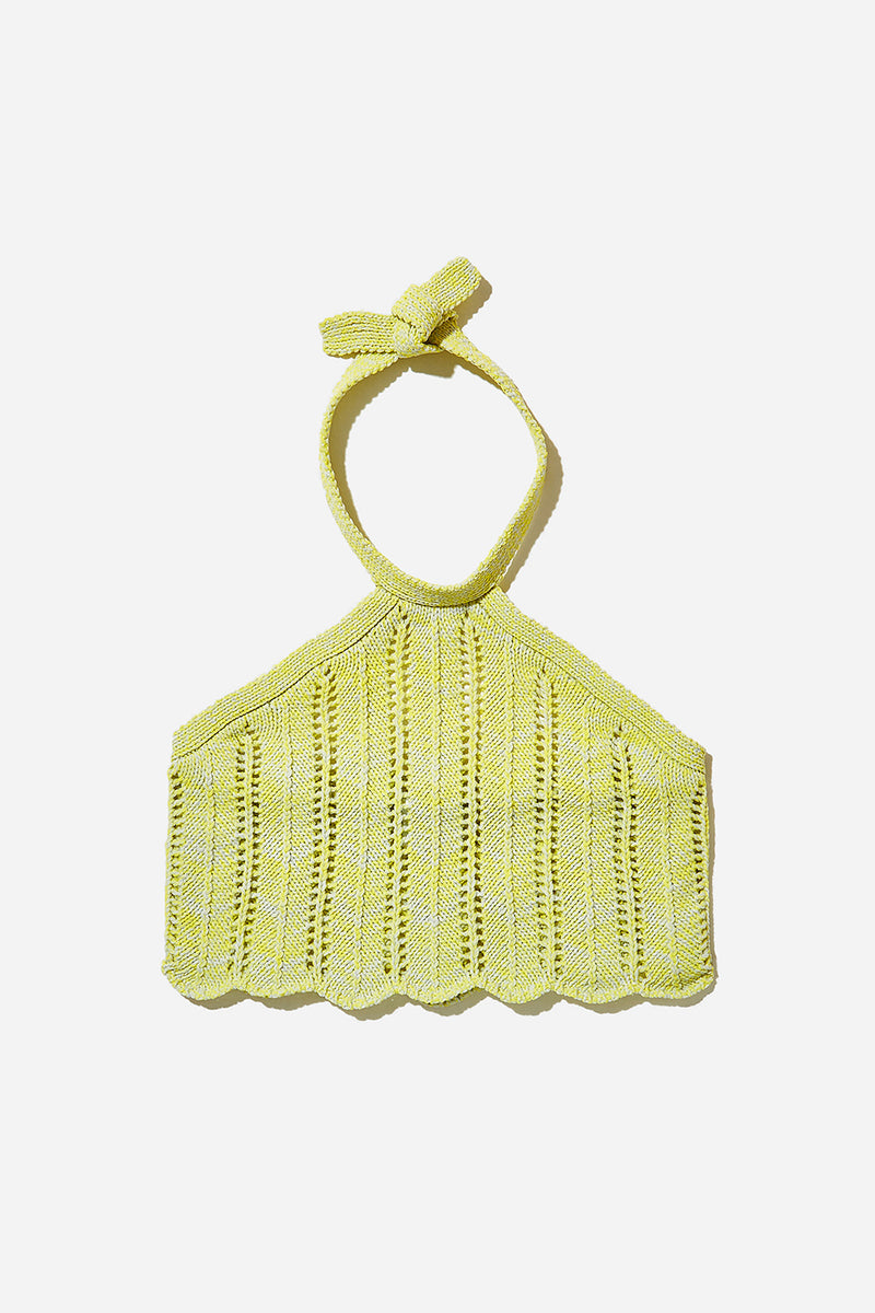 Holey Halter (Grey/Yellow)