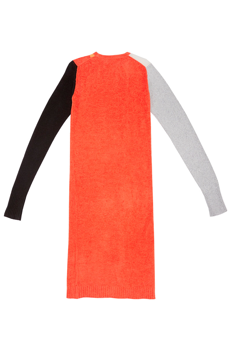 Wah Colorblock Maxi Cardigan in Red