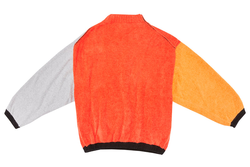 Wah Colorblock Oversized Pullover in Red