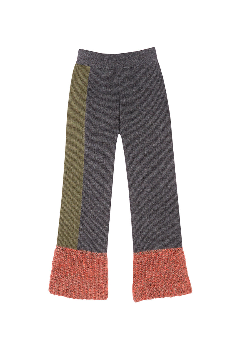 Momo Colorblock Pants in Charcoal