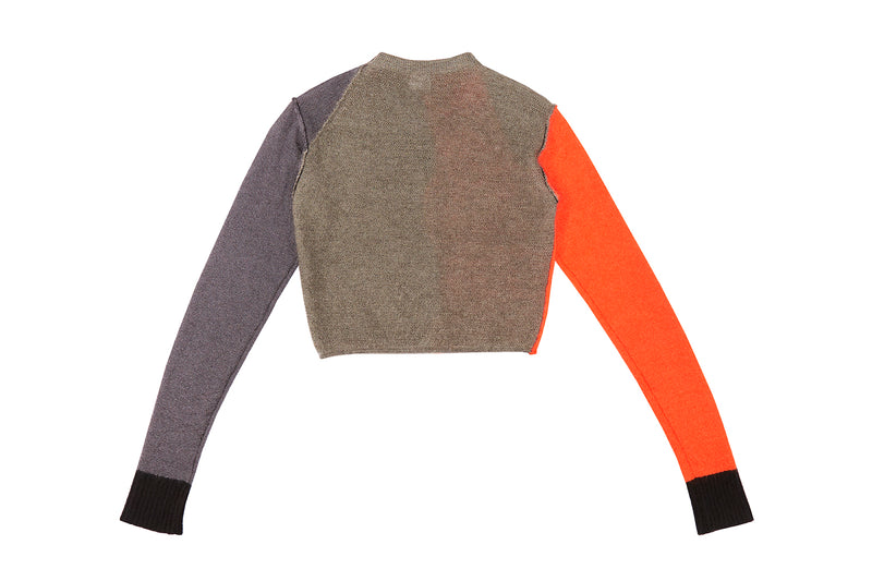 *NEW!!* Momo Colorblock Crop Cardigan in Charcoal