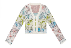 *2 COLOR OPTIONS!!* Laza Cardigan in Boucle Jacquard