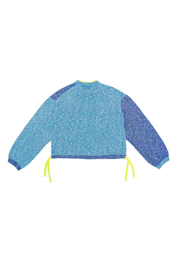 Tweedle Taichi Jacket in Blue/Navy Tweed *WAITLIST OPTION AVAILABLE*