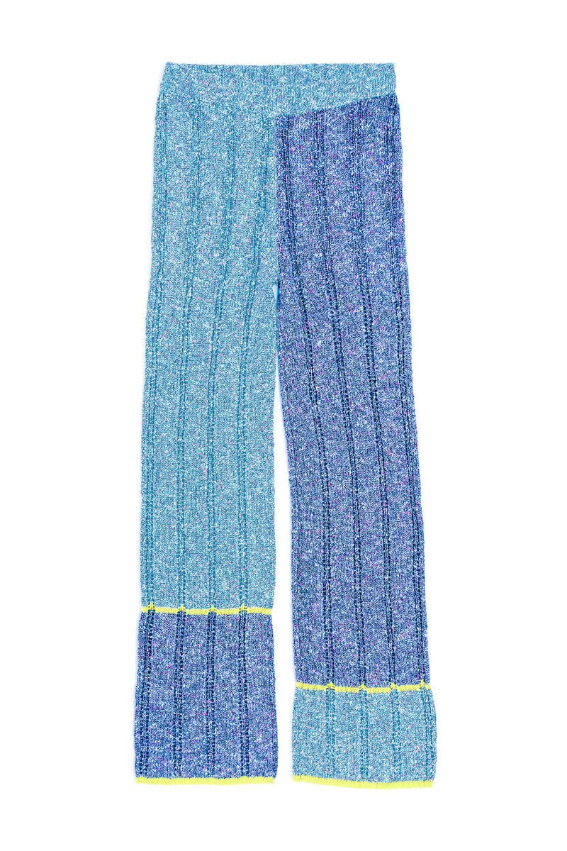 Tweedle Pant in Blue/Navy Tweed