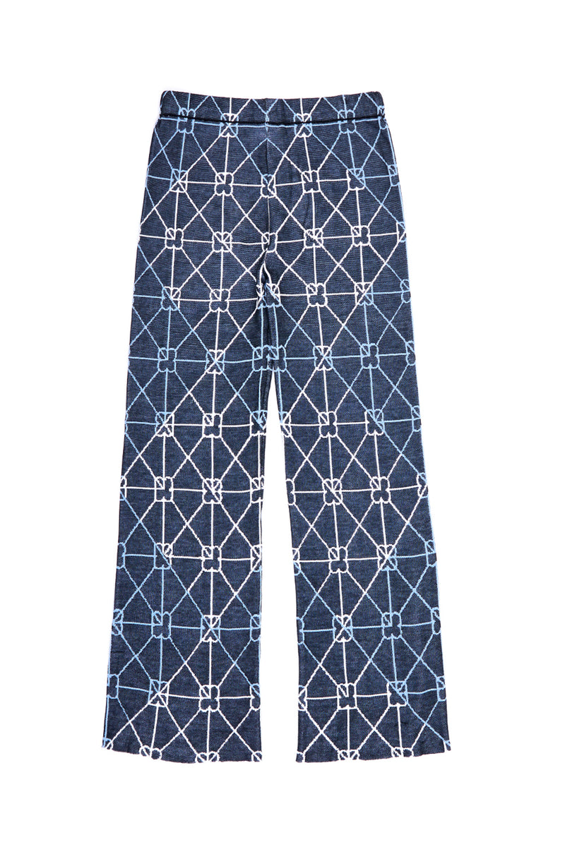 June Pant in Cotton Jacquard