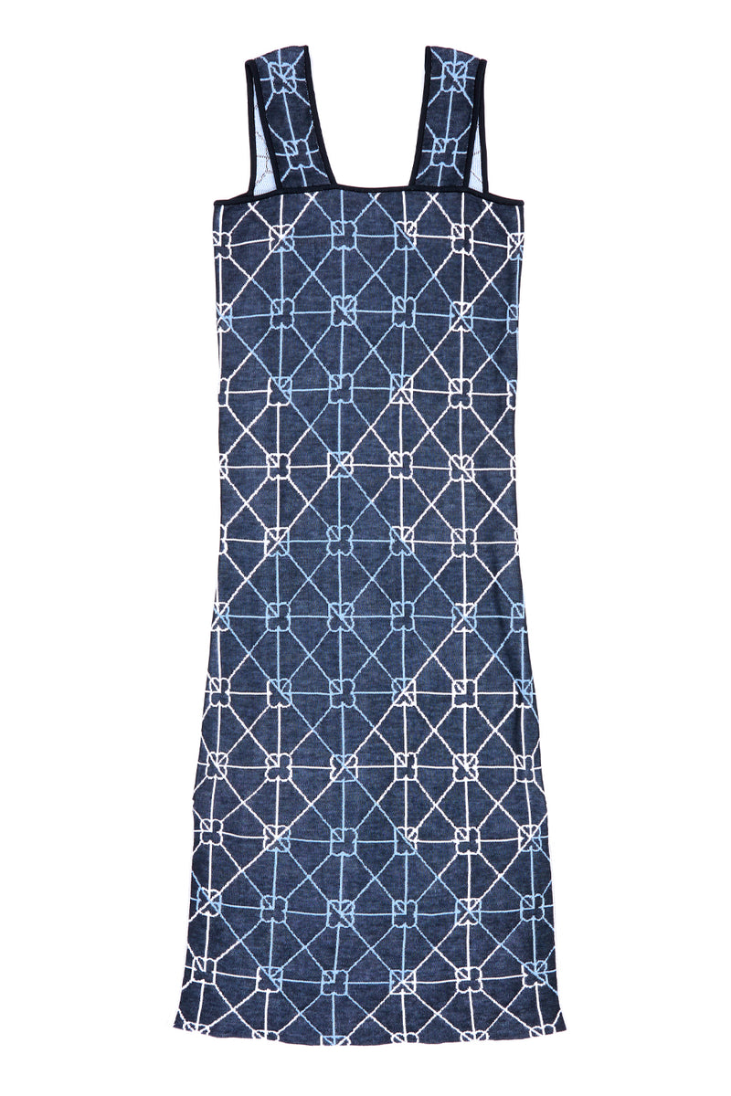 June Tank Dress in Cotton Jacquard