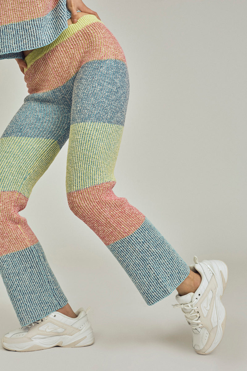 Two Toned Tweed Pant in Multicolor Tweed