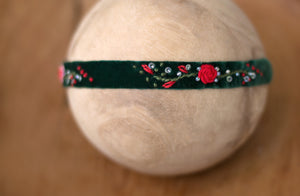 "Hattie Hand-Embroidered Band in ""Evergreen"""