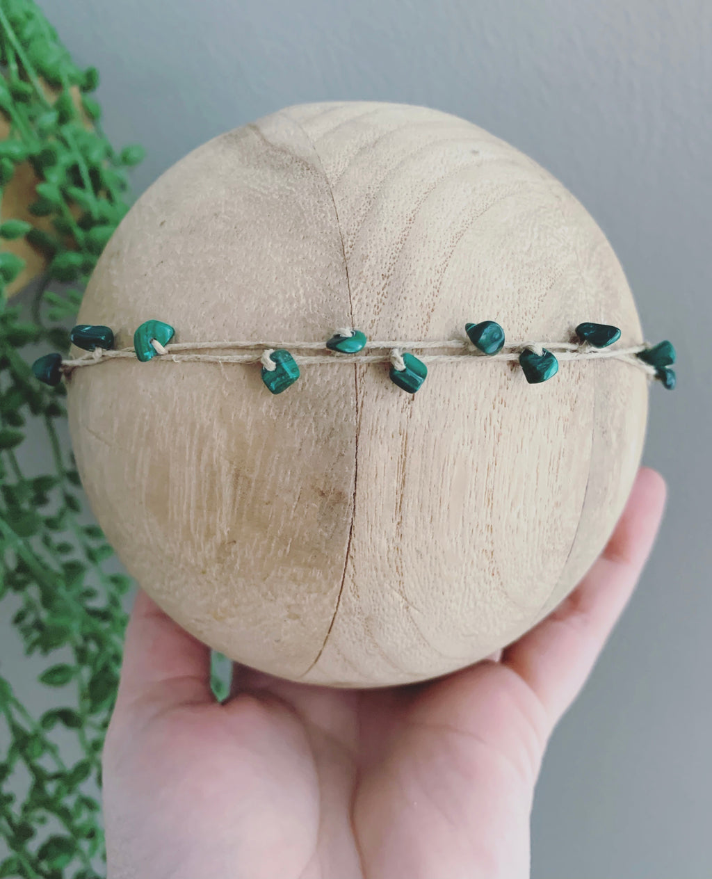 "Double-stranded Gemstone Band in ""Emerald"""