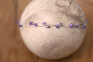 "Double-stranded gemstone Band in ""Amethyst"""