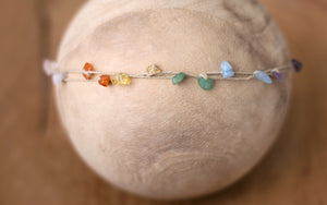"*NEW* Double-stranded gemstone Band in ""Rainbow"""