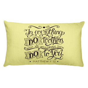 Matthew 7:12 Premium Pillow