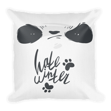 Load image into Gallery viewer, Hate Winter Smirk Panda Premium Pillow