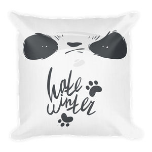 Hate Winter Smirk Panda Premium Pillow