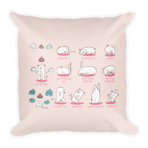 Yoga Poses Premium Pillow